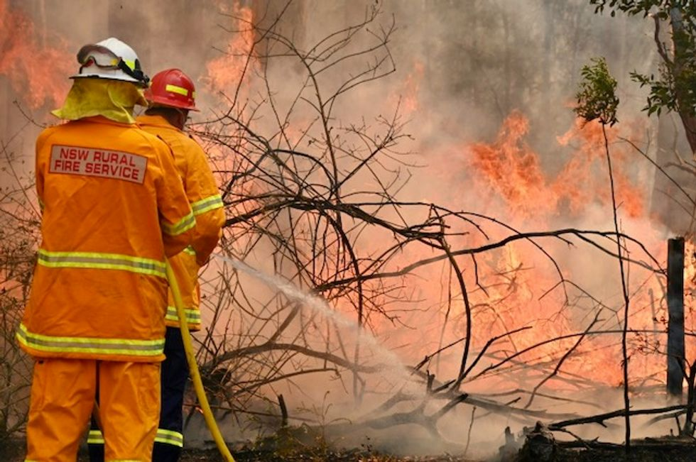 'Mega fire' forms north of Sydney