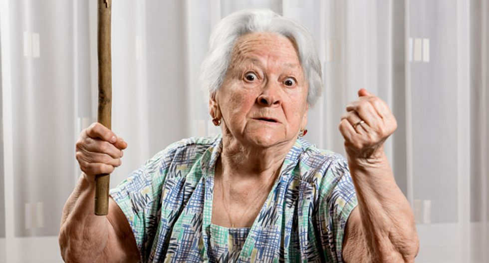 70-year-old woman tenderizes husband's head after catching him looking at porn