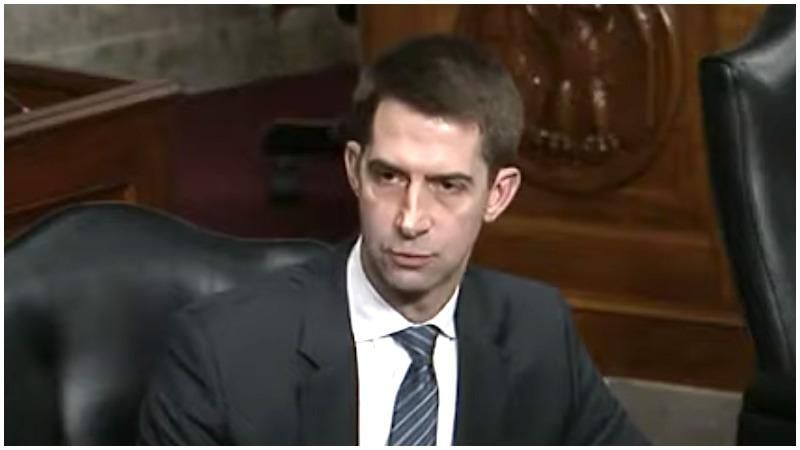 Tom Cotton warns he is holding up Merrick Garland's nomination