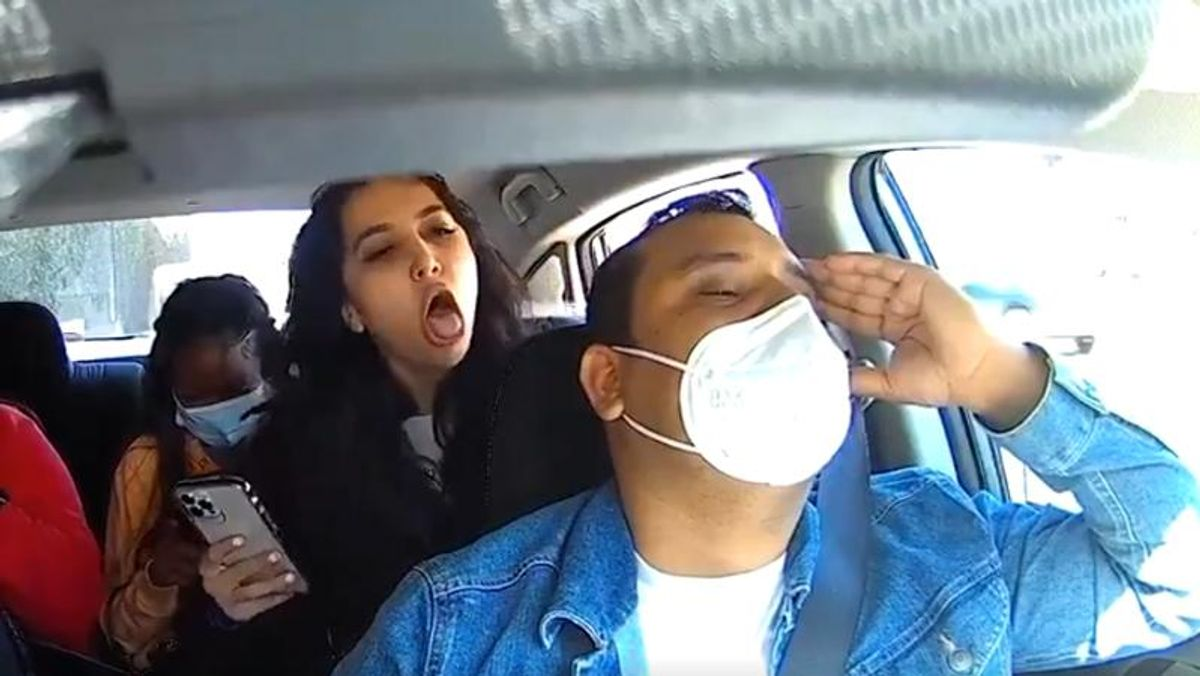 WATCH: Woman coughs on Uber driver then attacks him after he asks her to put on a mask