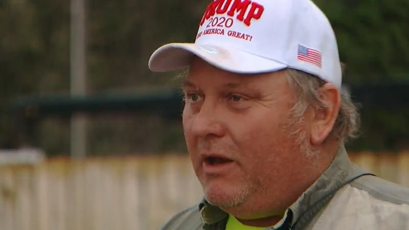 Trump supporter 'prepared to go to jail' as he defies city ordinance by flying absurdly huge flag