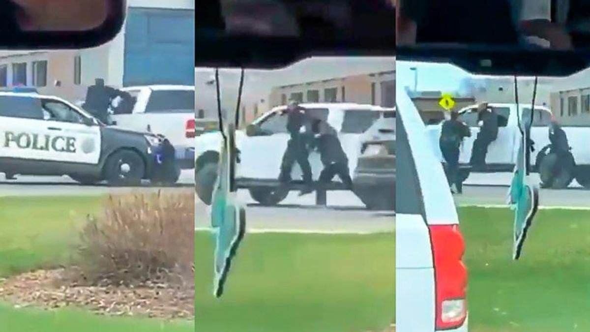 White Minnesota man drags police officer beside vehicle without getting tased or killed