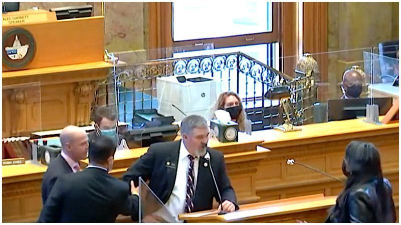 WATCH: Chaos erupts in the Colorado legislature after Republican slurs his colleague as 'Buckwheat'