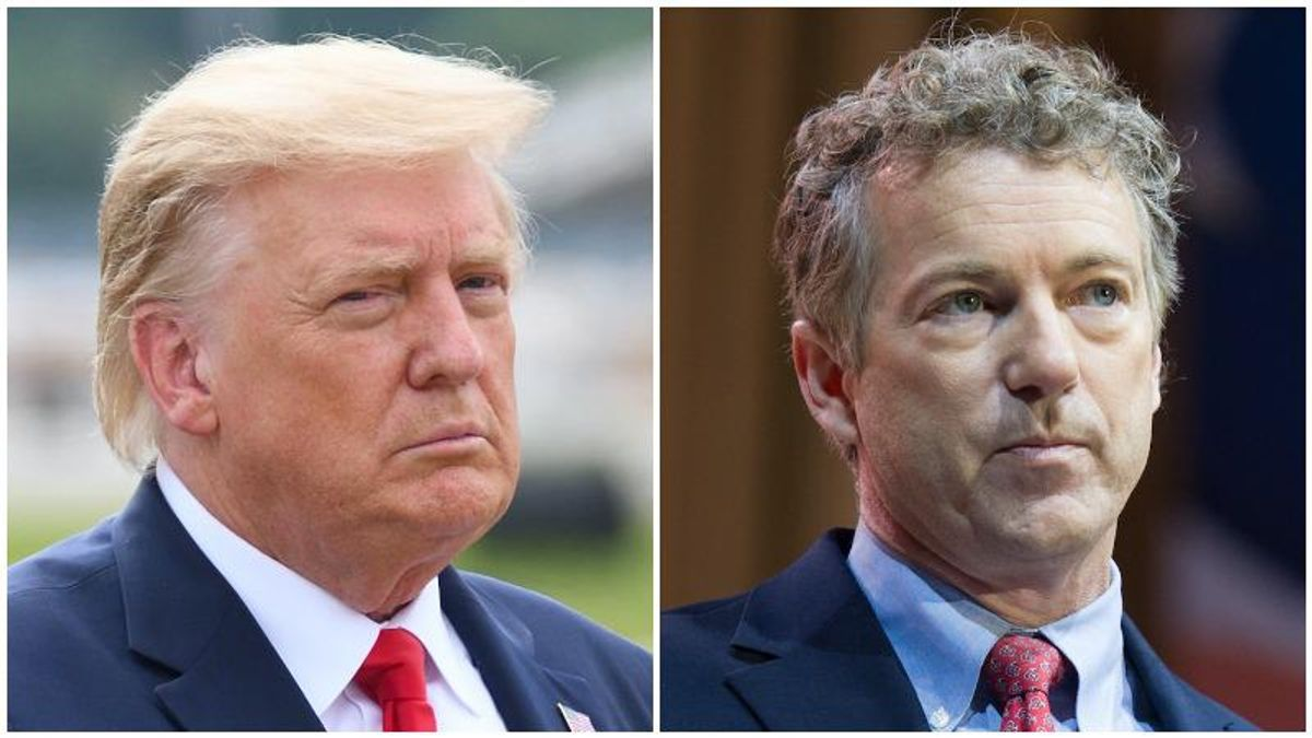 Trump suggests Rand Paul needs to apologize to him -- calls the Kentucky senator 'a different kind of guy'