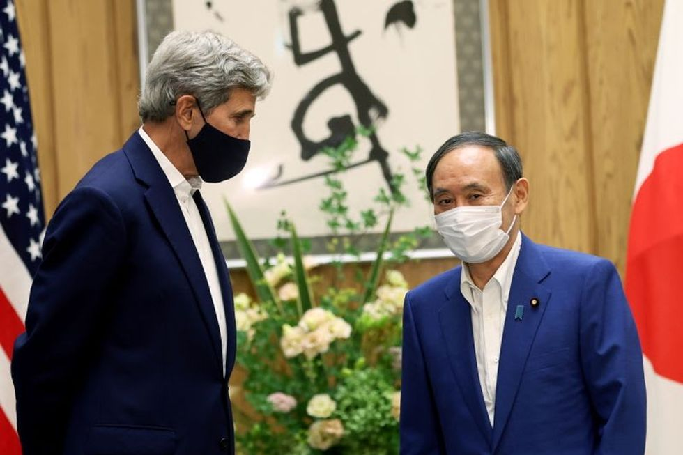 US climate envoy Kerry visits Japan, China for talks on emissions