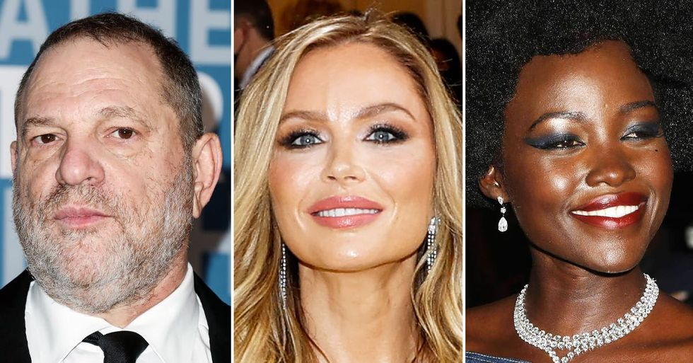 Harvey Weinstein's ex-wife Georgina Chapman walks alongside Disgraced Mogul's accuser Lupita Nyong'O at Met Gala