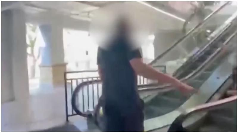 Raging white man allegedly punches Asian woman in the face – then claims being filmed is harassment