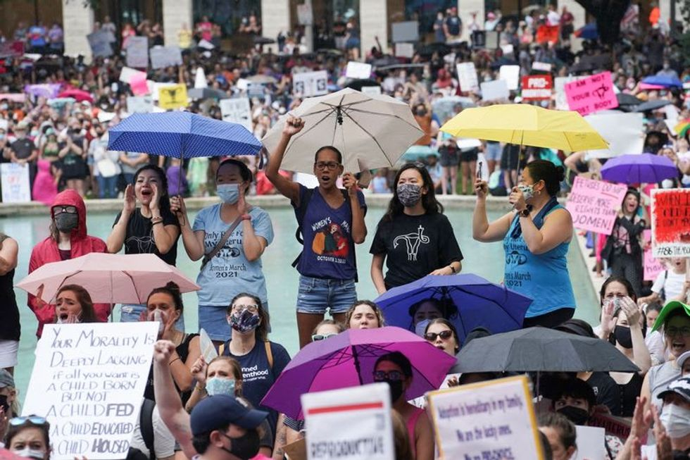 Texas rally launches day of U.S. protests against abortion restrictions