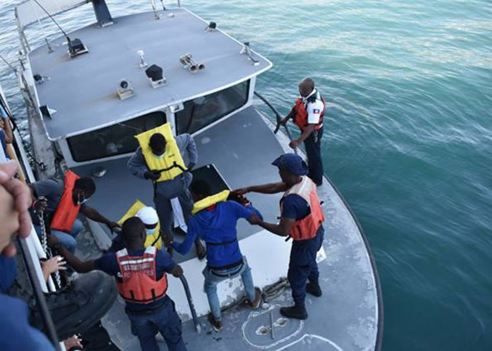 The Coast Guard returned 199 Haitians to Haiti. More than 1,500 intercepted in the last year