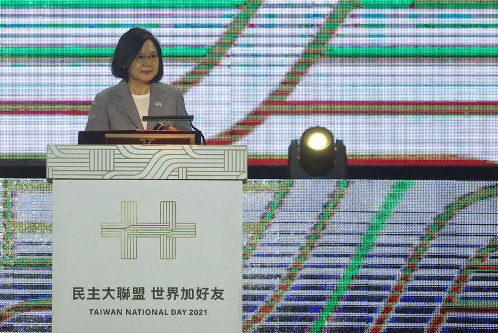 Taiwan president to pledge defence of sovereignty, democracy
