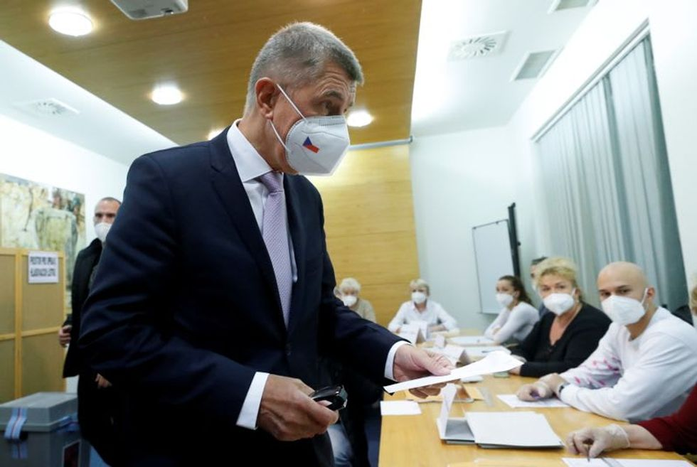 Czech opposition seen snatching majority in election from PM Babis