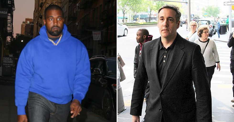 Kanye West spotted having coffee with Michael Cohen in NYC -- ahead of estranged wife Kim Kardashian's SNL debut