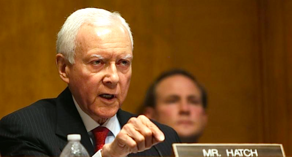 Orrin Hatch wants to tear down the wall of separation between church and state