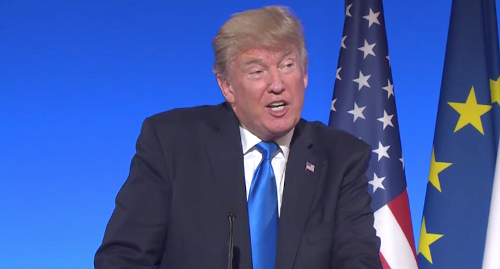 Trump accuses peaceful protesters at Boston rally of being 'anti-police agitators' while commending cops