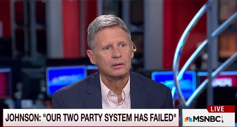 'We have to inhabit other planets': Gary Johnson offers libertarian solution to climate change