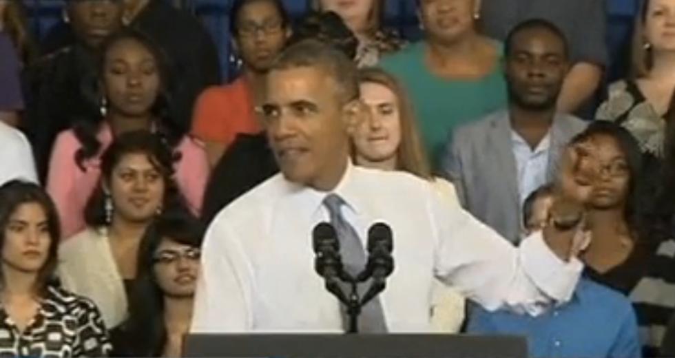 Obama mocks Republican's comparison of Obamacare to slavery