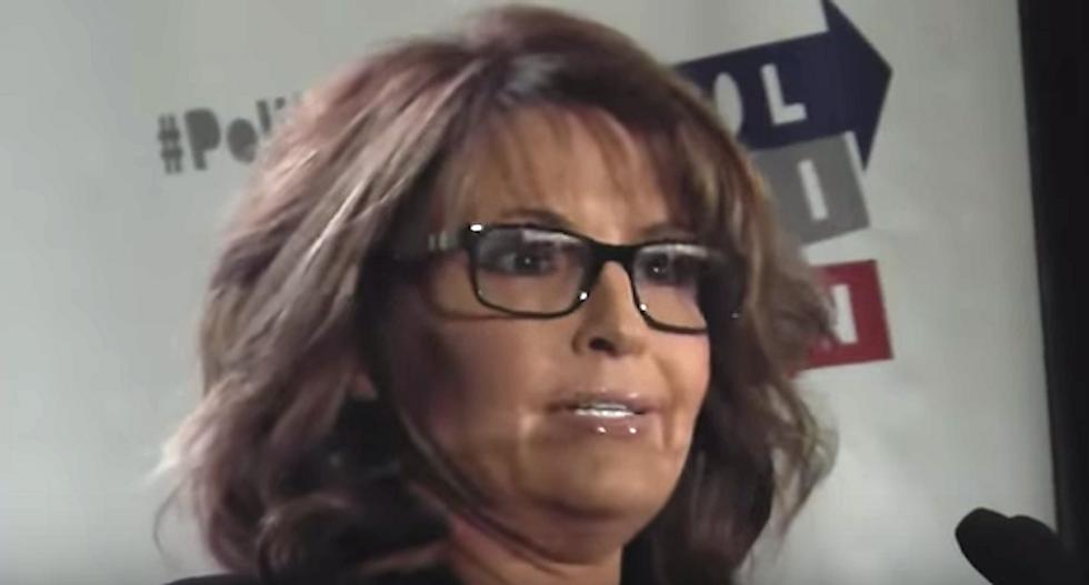 Sarah Palin slams 'good old boy' Hillary Clinton in wacky speech praising 'everyman' Donald Trump