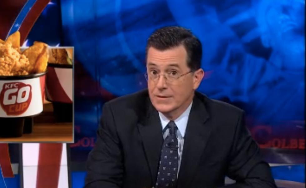Colbert: New KFC 'Go Cup' is 'suicide in progress'