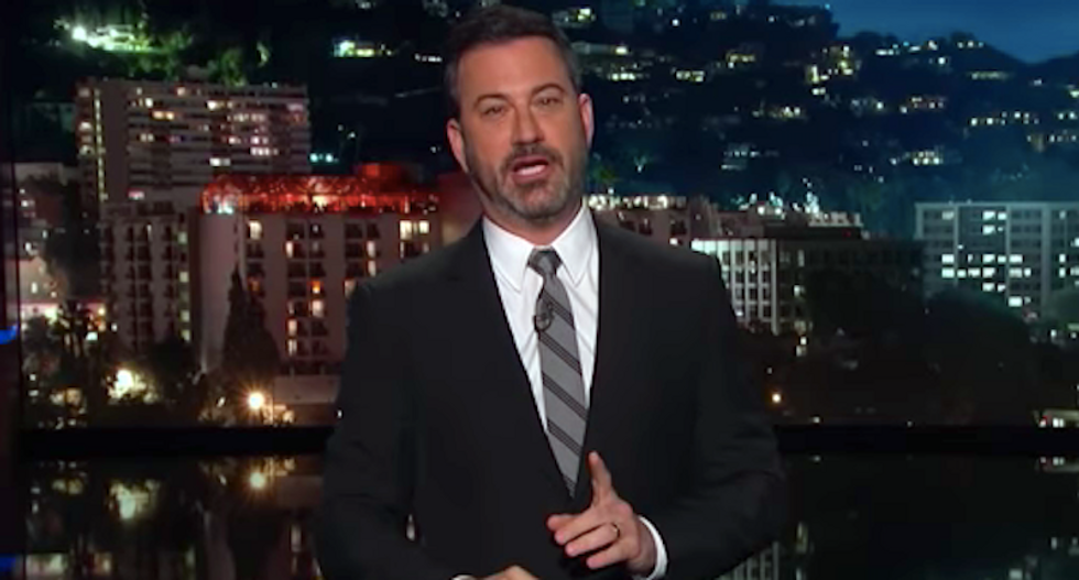 Jimmy Kimmel rips GOP cowards: 'Lindsey Graham really laid down the law' -- once Christine Ford left the room
