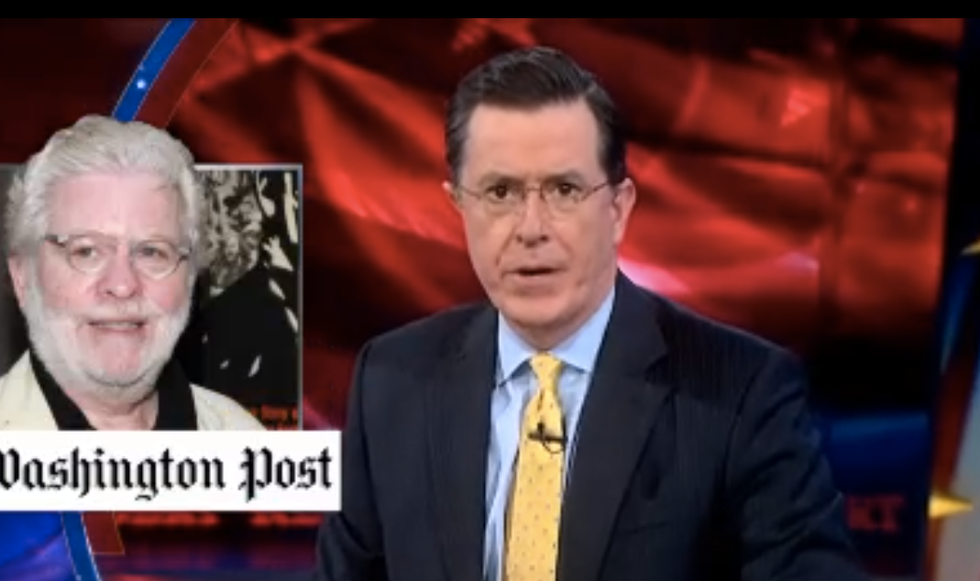 Colbert: Richard Cohen isn't racist because real racists actually throw up on interracial couples