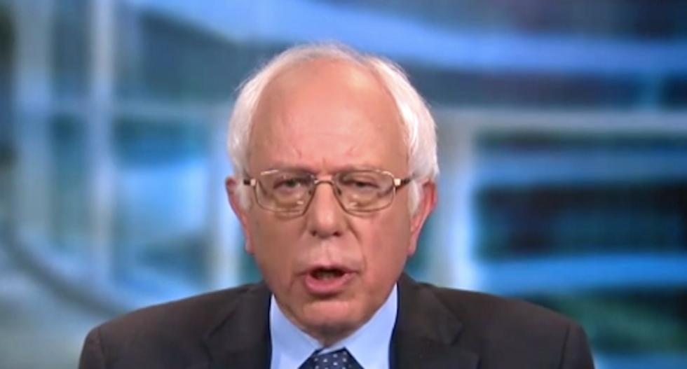 Bernie Sanders rips 'phony billionaire' Donald Trump: 'We have a president who is a pathological liar'