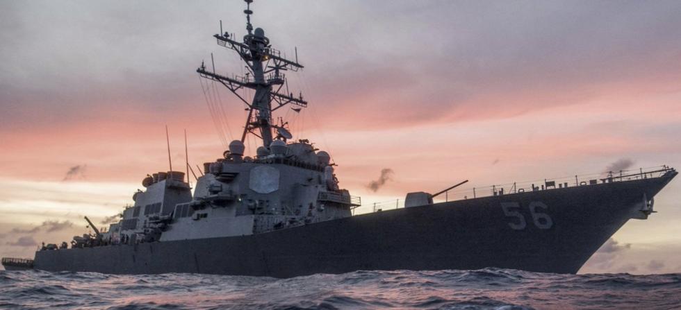 Navy Destroyer USS John McCain collides with merchant vessel off Malaysian coast