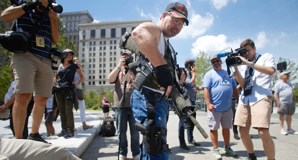 Open carry gun demonstrations cause jitters at Republican convention