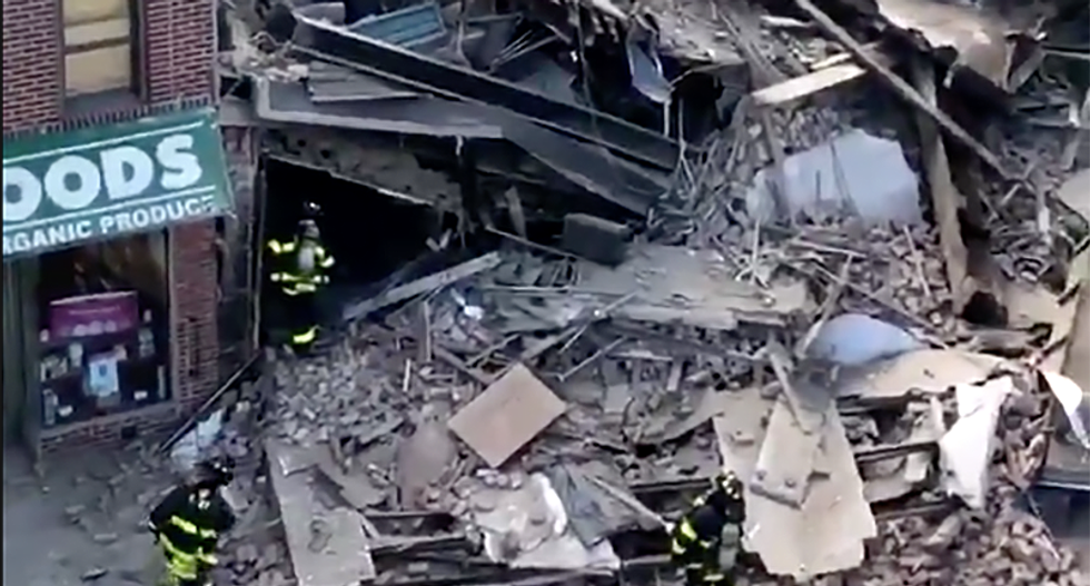 Multi-story building suddenly collapses in Brooklyn, New York