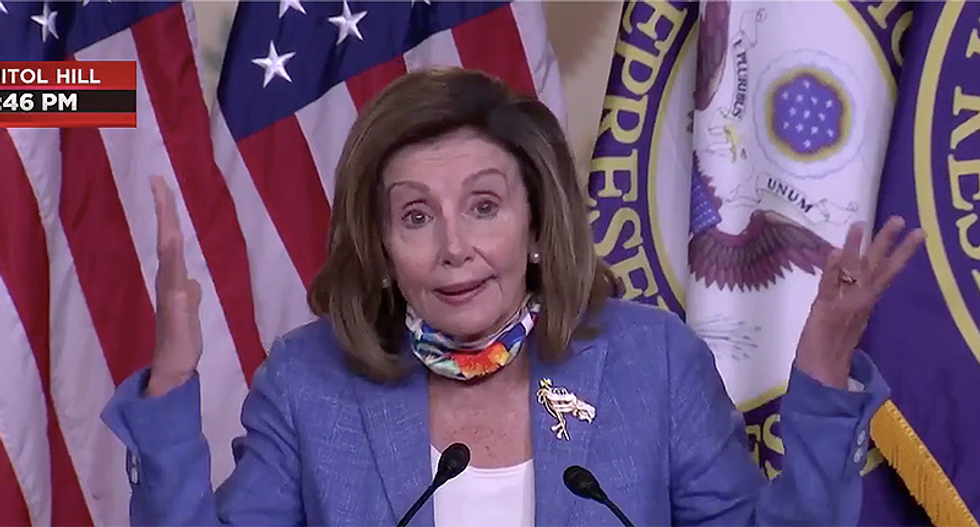 Pelosi says sanctions against Russian intel were stripped from bill because of Trump — even though GOP wanted them