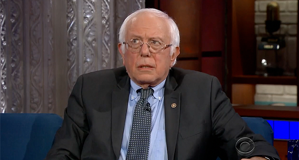 Watch as Bernie Sanders stumbles trying to come up with something nice to say about Donald Trump