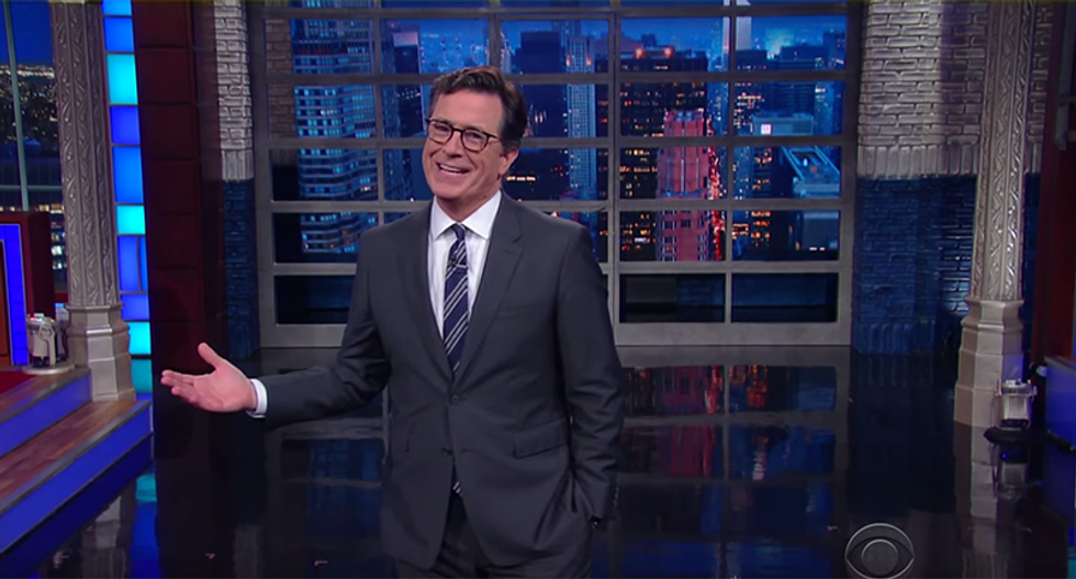 Stephen Colbert: Draft-dodging Trump deserves a Purple Heart — for shooting himself in the foot