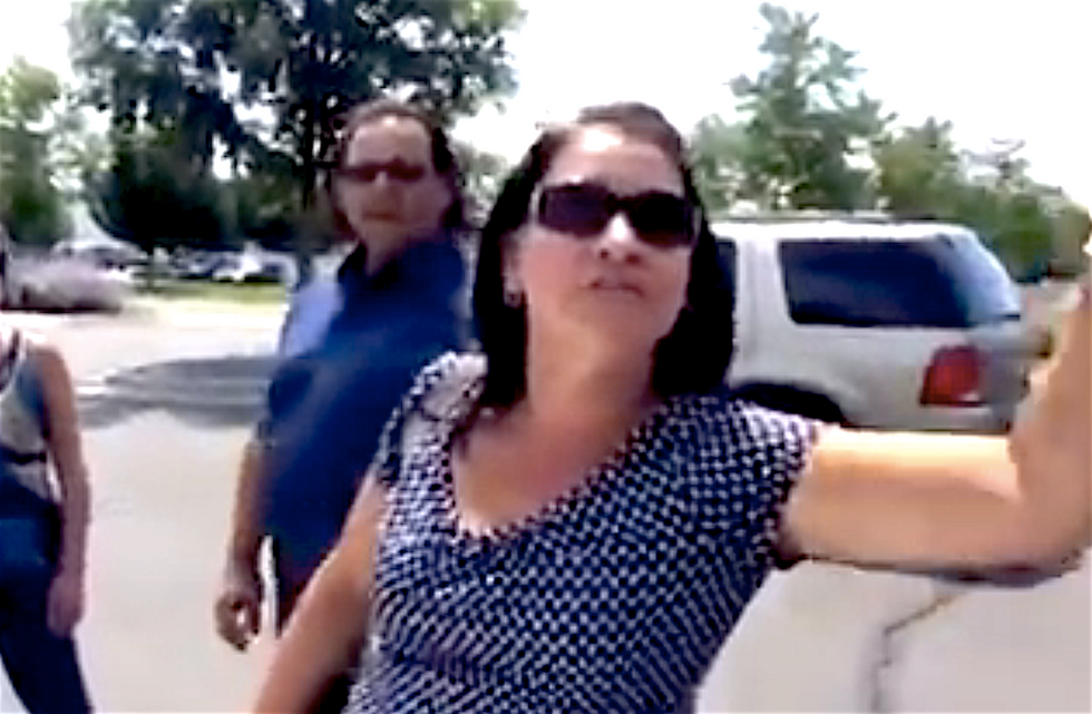 'Godd*mn w*tbacks!': Angry white lady's racist rant at Colorado Latino family caught on video