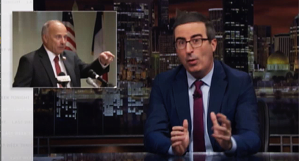 John Oliver hilariously nails Steve King for having a 'special mix of racism and stupid' for being unable to lie about white nationalism