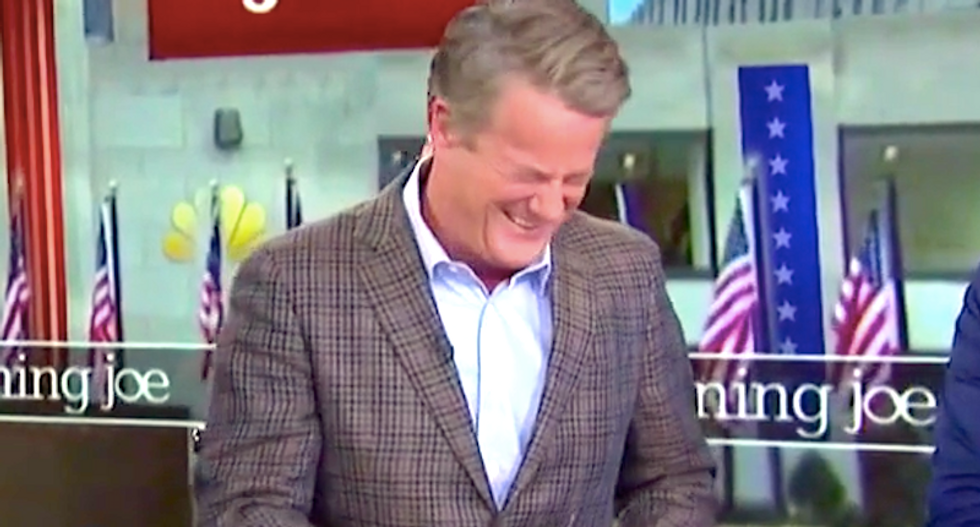 Morning Joe cackles in delight as Ann Coulter -- author of 'In Trump We Trust'-- cries over betrayal