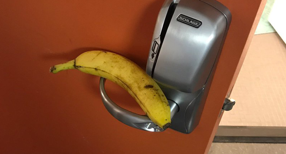 Student busted for leaving banana on black Temple students' dorm door has an absurd excuse