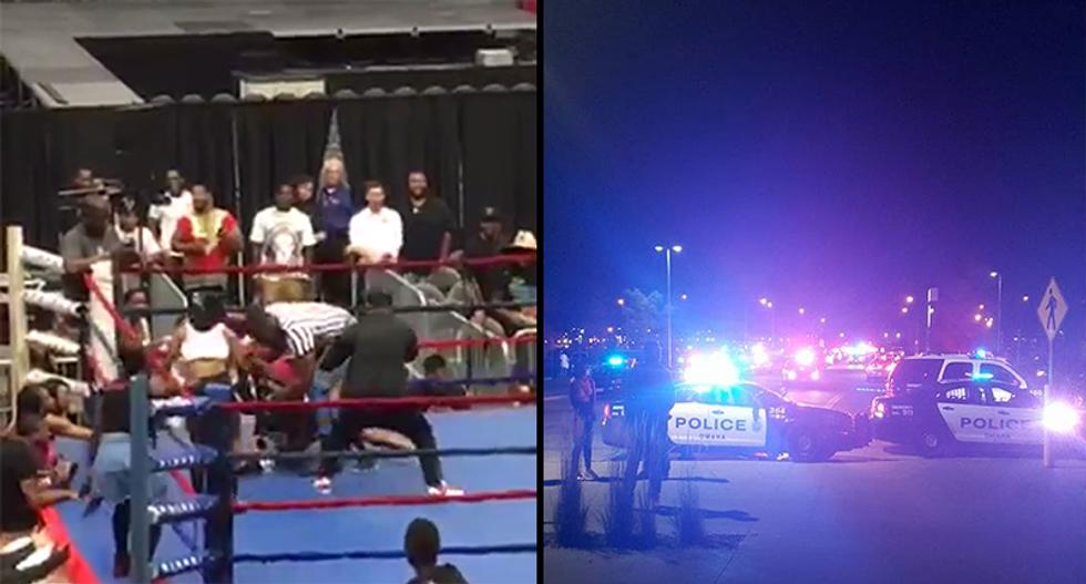Nebraska bikini boxing devolves into brawl — police forced to use pepperball guns to break it up