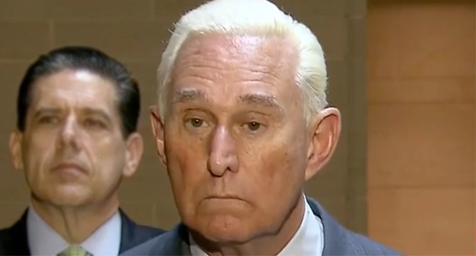 Roger Stone friends panicking he'll be tossed in jail for judge threat: 'I don't know if he's capable of keeping his mouth shut'
