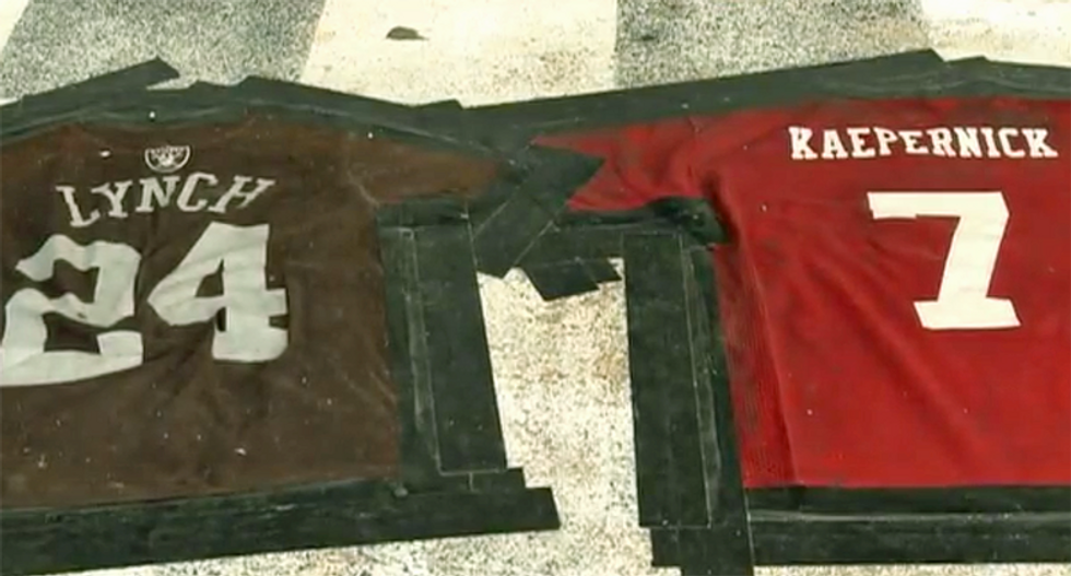 Missouri bar owner crafts 'Lynch Kaepernick' doormat -- then claims 'it's not a race thing'