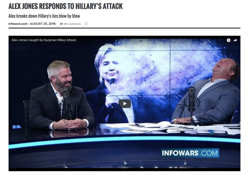 Joe Biggs and Alex Jones discuss Clinton speech