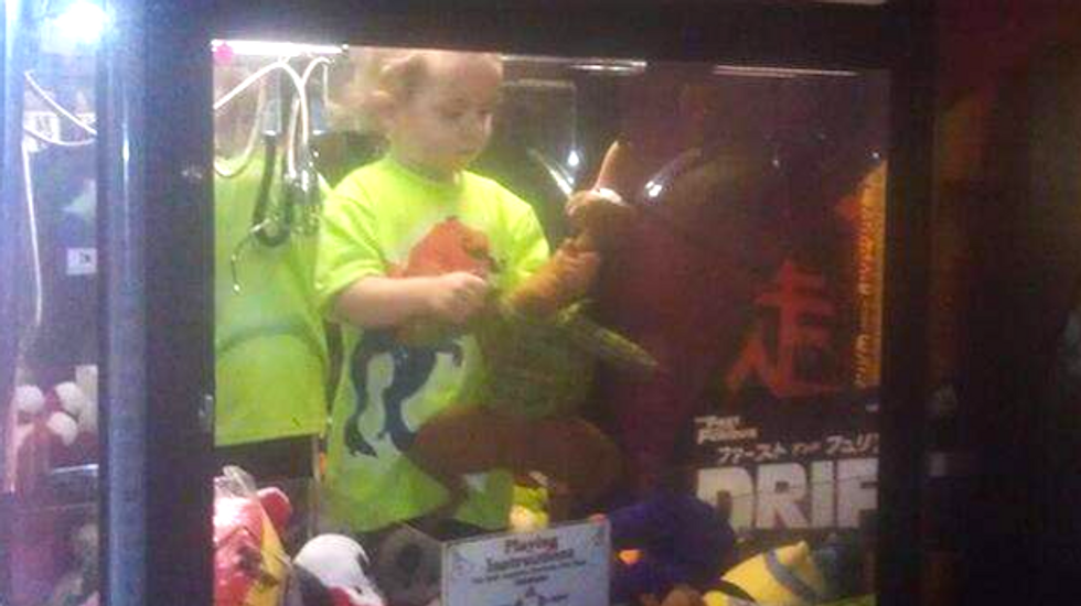 Missing 3-year-old boy discovered inside claw machine at Nebraska bowling alley