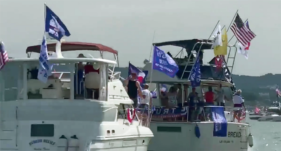 Trump boat parade ends in disaster after multiple vessels sink in Texas lake