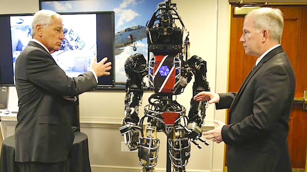 Pentagon shows off man-size, 'Terminator'-like search and rescue robot