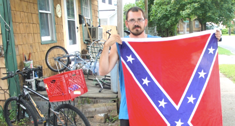 NY couple asks black neighbor to agree Confederate flag's 'not racist' — and are gobsmacked when teen won't