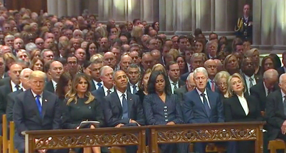 Fox News anchor Chris Wallace 'struck' by how quickly Trump spoiled the mood at George HW Bush's funeral