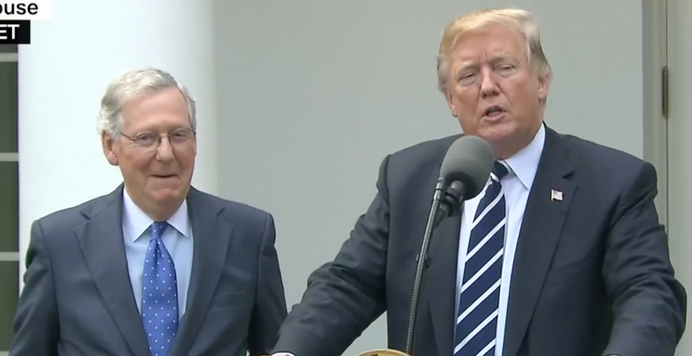 'Don't interrupt me': Angry Mitch McConnell shut down Trump during health care discussion