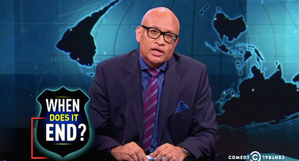 Larry Wilmore on Dubose killing: 'In the cop's defense — he thought he could get away with it'