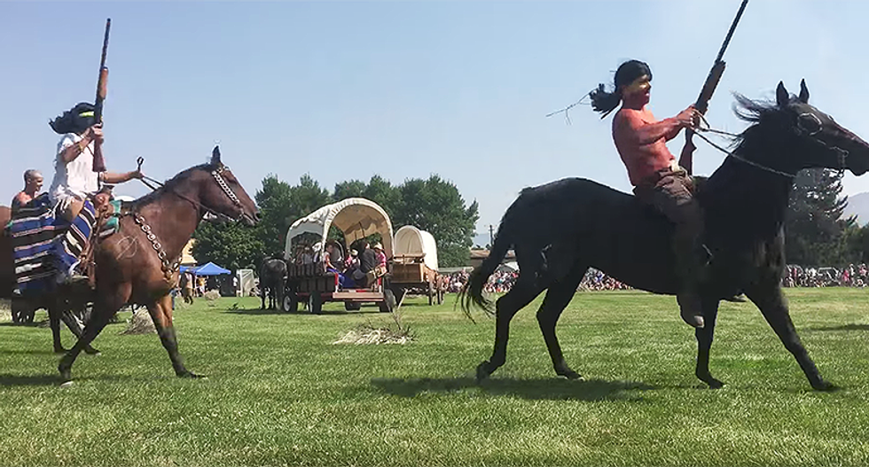 Native Americans furious about Utah festival with whites in redface reenacting a battle that never happened