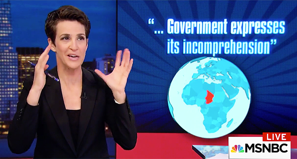 Maddow connects the dots on how Trump adding Chad to his travel ban may have gotten soldiers killed in Niger