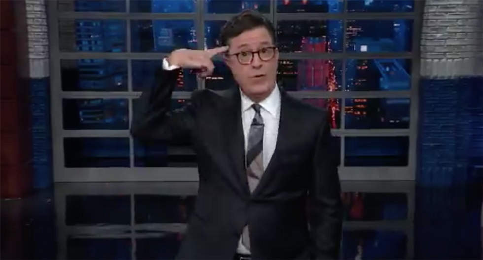 Colbert wants to know how can you edit a transcript and still leave in all the crimes you did