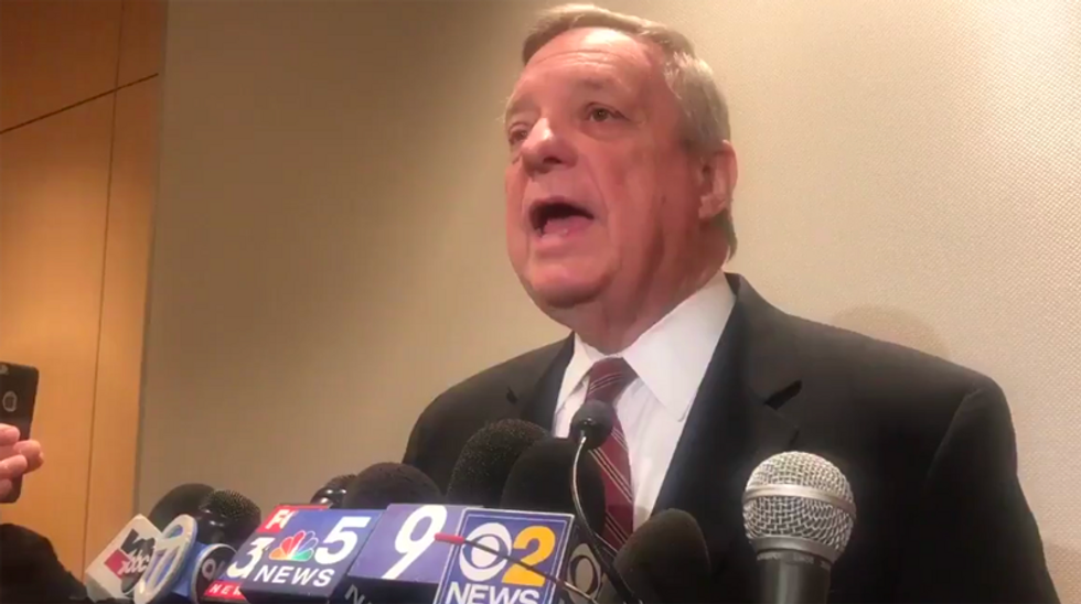 White House meeting attendee Dick Durbin destroys Trump's 'sh*thole' denial: He was 'hate-filled, vile and racist'